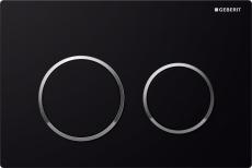 Betjeningsplade Omega 20, sort/krom/sort