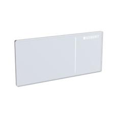 Betjeningsplade Omega 70, møbeltryk pneumatisk, hvid glas