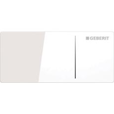 Betjeningsplade Omega 70, vægtryk pneumatisk, hvid glas