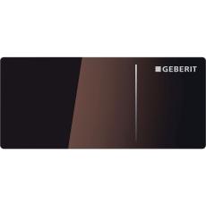 Betjeningsplade Omega 70, vægtryk pneumatisk, brun glas