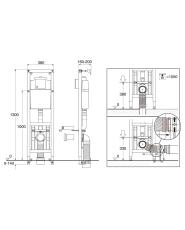 GBG Triomont XS vario fikstur til mekanisk vægtryk