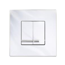GBG Triomont XS fronttryk duo, blank krom plast til wc tikst