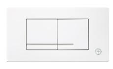 GBG Triomont XT toptryk duo, hvid plast til wc fikstur