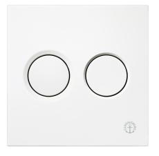 GBG Triomont XS pneumatisk front tryk plade i hvid plast duo