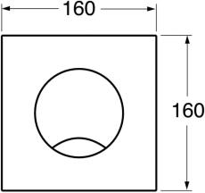 GBG Triomont XS front plade hvid enkeltskyl