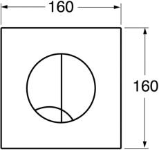 Duo trykplade i hvid plast