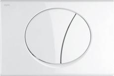 MEPAsun betjeningsplade, 2-mængde, Hvid, udenpåliggende