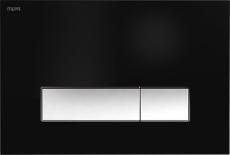 MEPAorbit betjeningsplade, 2-mængde, Sort, Udenpål./Planum