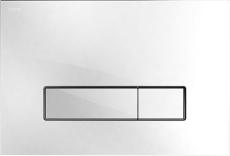 MEPAorbit betjeningsplade, 2-mængde, Glas hvid, udenpålig/pl