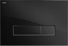 MEPAorbit betjeningsplade, 2-mængde, Glas sølv, udenpålig/pl