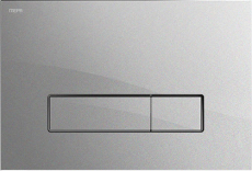 MEPAorbit betjeningsplade, 2-mængde, Glas sort, semi-planum