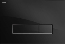MEPAorbit betjeningsplade, 2-mængde, Glas sølv, semi-planum