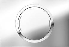MEPAzero betjeningsplade, 2-mængde, Glans krom, udenpålig/pl