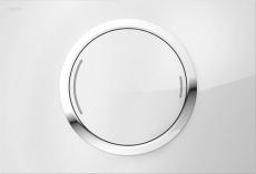 MEPAzero betjeningsplade, 2-mængde, Glas hvid, semi-planum