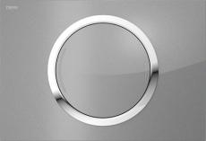 MEPAzero betjeningsplade, 2-mængde, Glas sort, semi-planum
