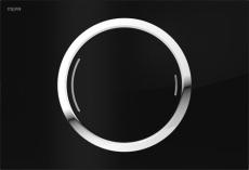 MEPAzero betjeningsplade, 2-mængde, Glas sølv, semi-planum