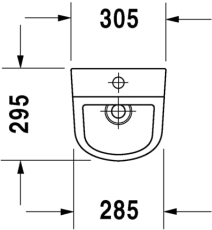 D-code urinal med dyse tilslutning fra oven, med flue