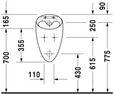 Starck 1 urinal model til låg, med flue
