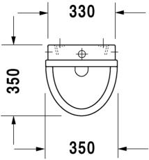 Starck 3 urinal tilslutning fra oven, med flue