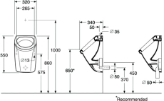 GBG Saval urinal synlig tilgang