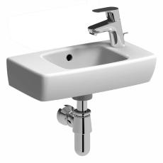 Ifö B1 håndvask 45 cm med hanehul til højre