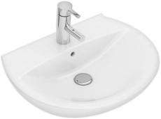 Ifö Spira håndvask 57 cm, buet forkant, m/hh u/overløb