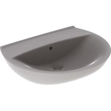 Ifö Spira håndvask 57 cm, buet forkant, u/hh m/overløb