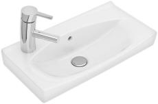 Ifö Spira håndvask 51,5 cm, lige forkant, hh venstre