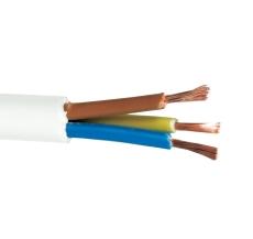 Ledning H05VV-F 3G1,5 hvid, 5 meter