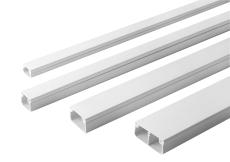 Kabelkanal 16 x 16 mm hvid for skrue 3601