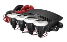 Spot Luna LED 4x1W 3000K, Ra>90 alu, inklusiv driver