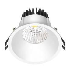 Downlight Velia LED 10,9W 2700K, 650 lm, 230V rund, hvid