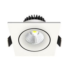 Downlight Velia Tilt LED 10,9W 3000K, 230V firkantet, hvid