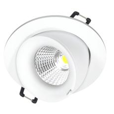 Downlight Velia Large Tilt LED 10,9W 2700K, 230V rund, hvid