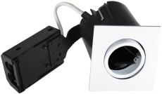 Downlight Quick Install GU10 firkantet hvid