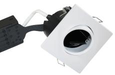 Downlight Uni Install GU10 firkantet, mat hvid