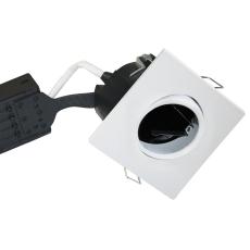 Downlight Uni Install GU10 firkantet, hvid