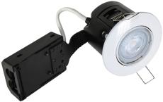 Downlight Easy Install LED 5W 827, 330 lumen Ø87 hvid