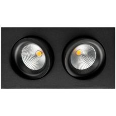 Downlight Junistar Gyro LED 2x6W 2700K sort