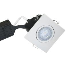 Downlight Uni Install GU10 5W 4000K, firkantet, hvid