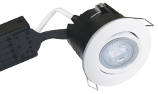 Downlight Uni Install GU10 5W 3000K, rund, mat hvid, RS316