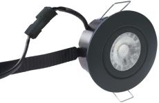 Downlight Low Profile Flexible LED 6W 2700K Ø87 sort