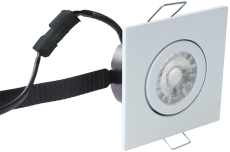 Downlight Low Profile Flexible LED 6W 3000K 87x87 mat hvid