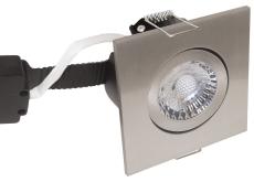Downlight Low Profile Deluxe LED 6W 827 GU5,3, firk., børst.