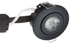 Downlight Low Profile Deluxe LED 6W 827 GU5,3, rund, sort