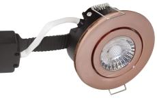 Downlight Low Profile Deluxe LED 6W 840 GU5,3, rund, kobber