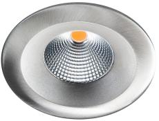 Downlight Uniled Isosafe LED 7W 3000K, børstet stål