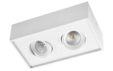 Loftarmatur Gyro Cube LED 2x6W 2700K, 1010 lumen, mat-hvid