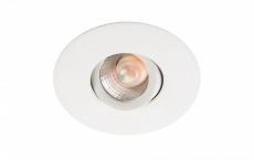 Downlight Nano Tilt LED 4W 3000K 240 lumen, 36°, mat-hvid