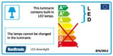 Spejlarmatur Bianka LED 21W 3000K 1750 lumen uden stik